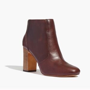 Madewell The Sutton Leather Ankle Booties